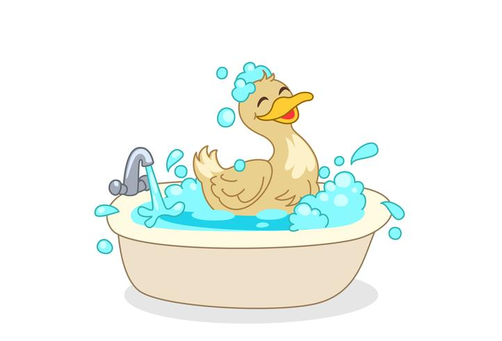Anatra con cartoon da bagno