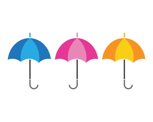 guarda-chuva ícone vector ilustração modelo de design