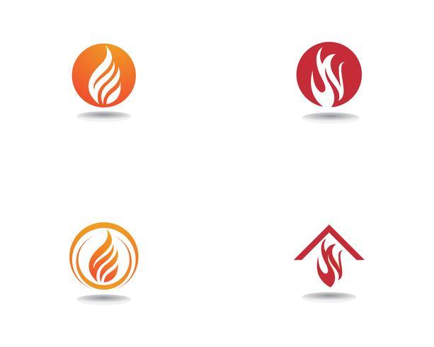 Fire Logo Template vector icon Oil, gas and energy logo concept