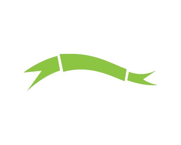 Bandeiras de fitas planas vector plana isoladas no fundo branco