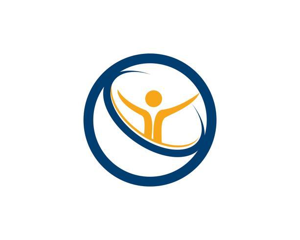 Health people logo and symbols success health