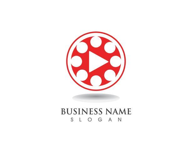 Película logo y símbolos vector plantilla
