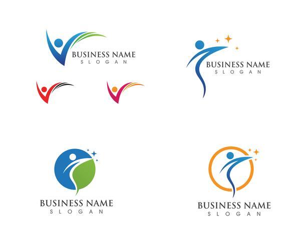 Vector de salud vida logotipo y plantilla de símbolos icono