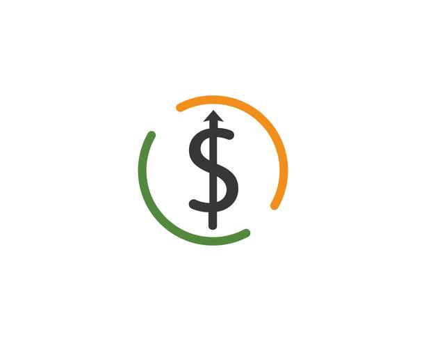 plantilla de vector de logotipo de dinero