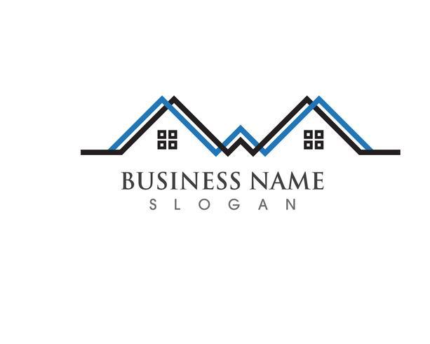 Logos vectoriels de ligne d'accueil