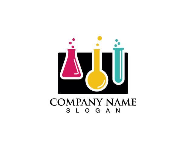 Laboratorium logo e símbolos vetoriais laboratório