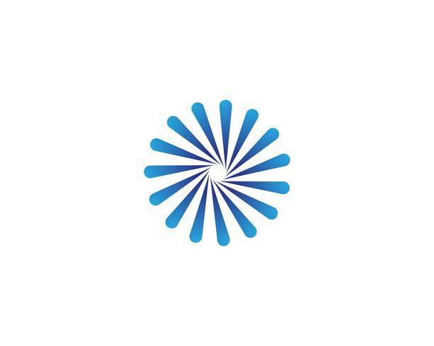 modello di logo e simboli di vortice