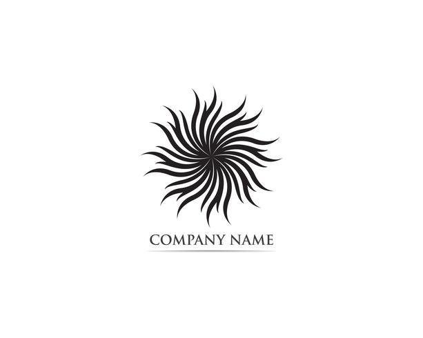 Illustration vectorielle de feuille lotus nature logo