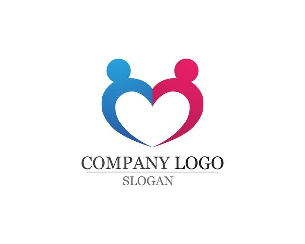 Love Adoption and community care Logo sjabloon vector