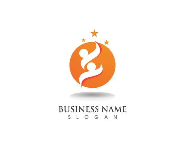 Adopción de logotipo y símbolo familiar. vector