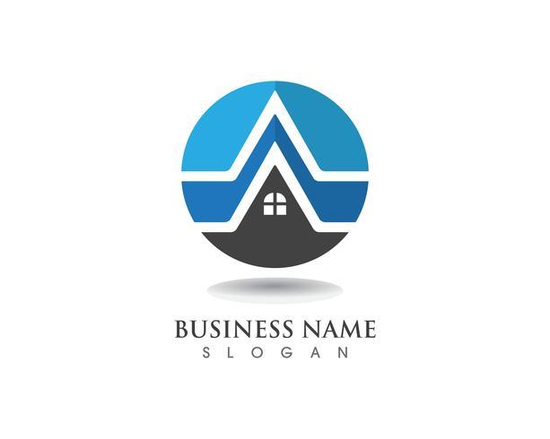 logotipo de edifícios e modelo de ícones de símbolos