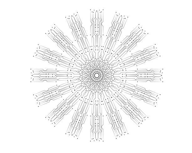 circuit illustration vector template line