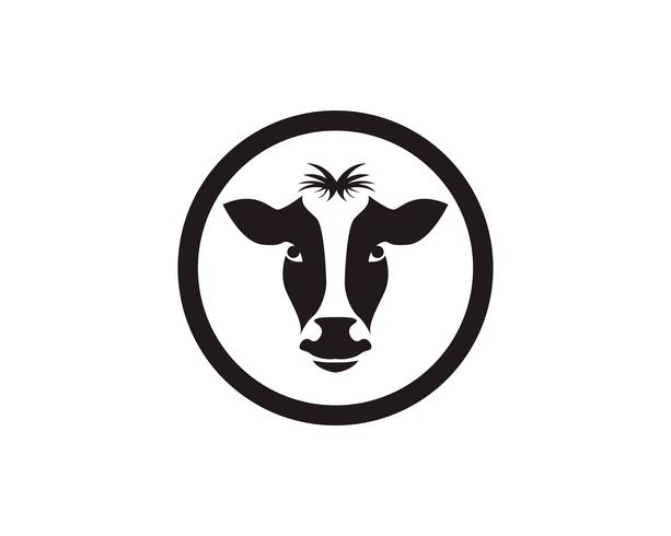 Cow head symbols and  logo vector template
