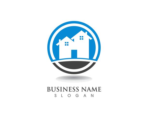 Semplice modello di logo per la casa