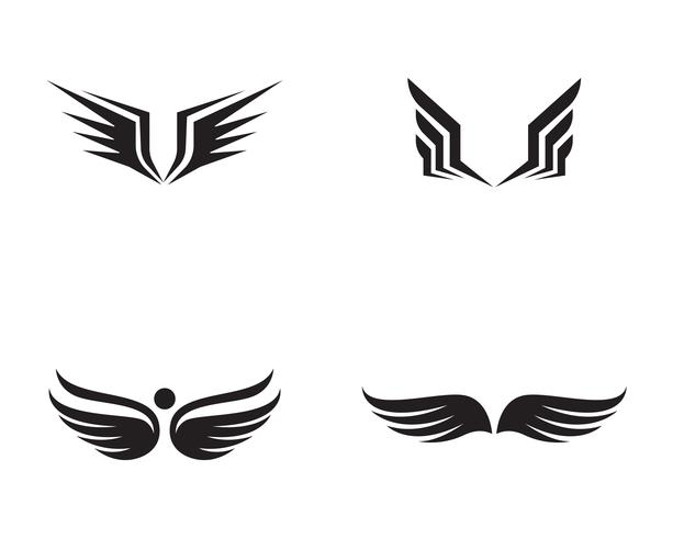 Flacon wing template vector design de ícones
