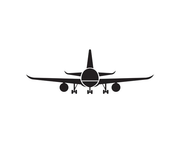 Flugzeug, Flugzeug, Airline-Logo-Label. Reise, Flugreise, Verkehrsflugzeugsymbol. Vektor-illustration