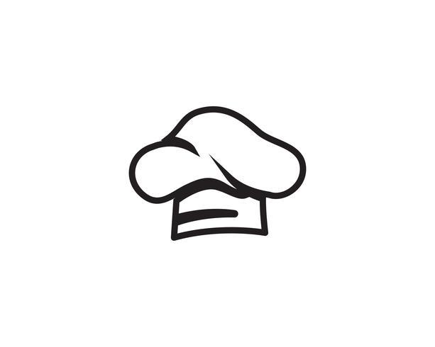 Chef hat logo and symbols black color vector icon