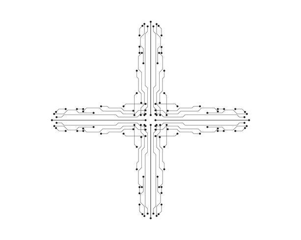 ligne de modèle circuit illustration vectorielle