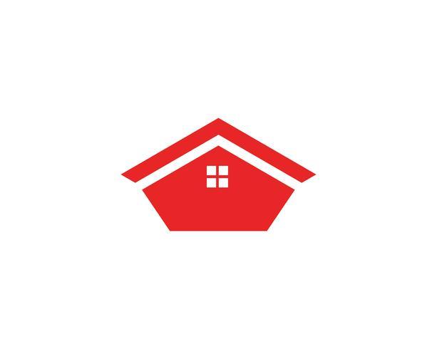 modelo de ícones de símbolos de logotipo de edifícios de casa