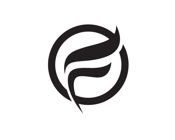 F logotipo e símbolos vetor ícones modelo