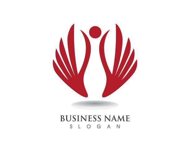 Vector de plantilla de logotipo y símbolos de halcón ala de águila