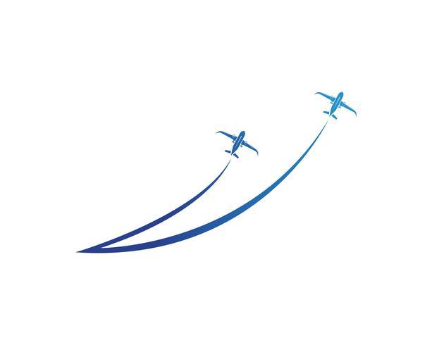 Vliegtuig, vliegtuig, luchtvaartmaatschappij logo label. Reis, vliegreizen, verkeersvliegtuigsymbool. Vector illustratie