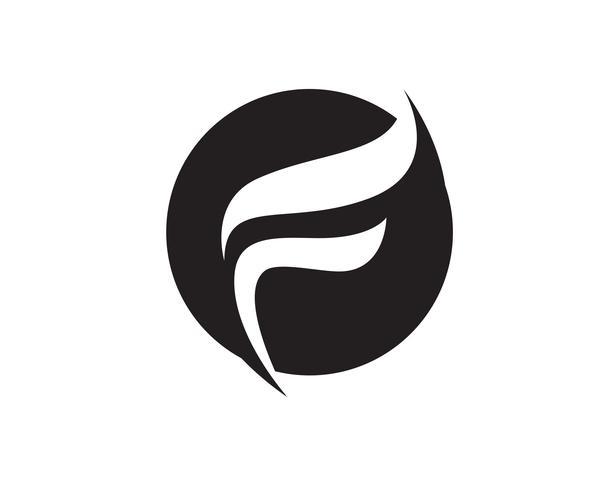 F logo et symboles modèle vector icons