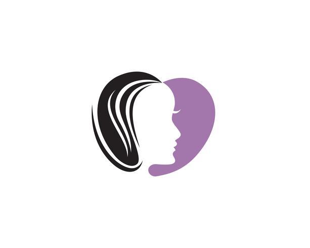 Donne del marchio di bellezza viso capelli