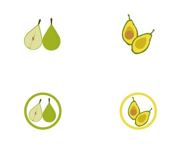 avocado vektor mall logotyp