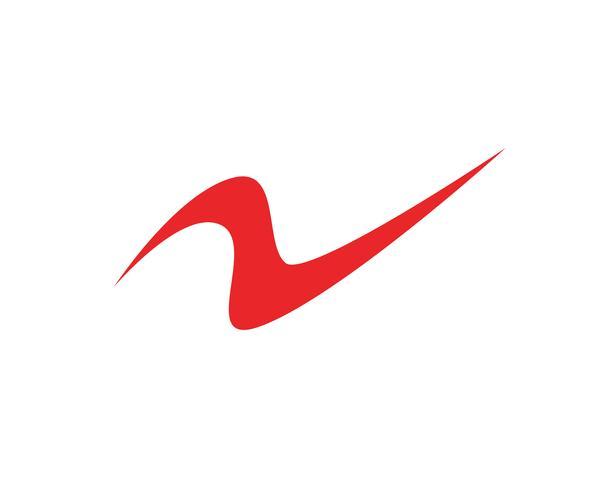 Fluss Logo Template-Vektorikonenillustration
