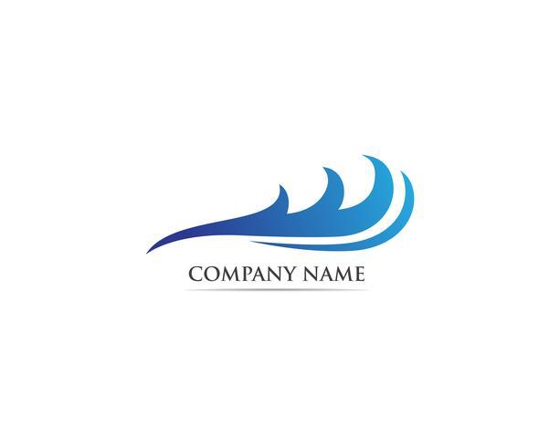 Wave-logotyp och symbolvektorer