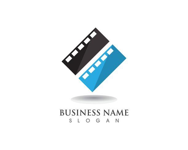 Modelo de vetor de logotipo e símbolos de filme