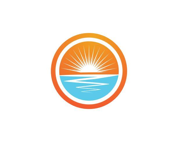 Ilustración de Vector de sol Icono Logo y símbolos Diseño de plantilla
