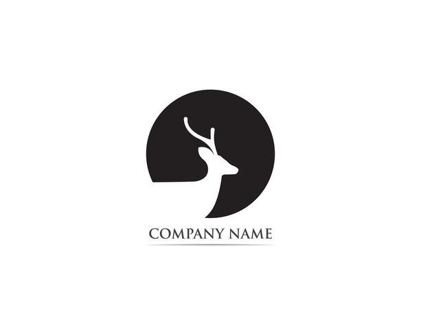 Cervo logo e simbolo vettoriale