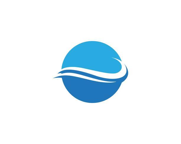 Vattenvågssymbol och ikonlogotyper
