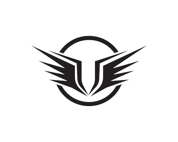 Flacon ala plantilla iconos vector diseño