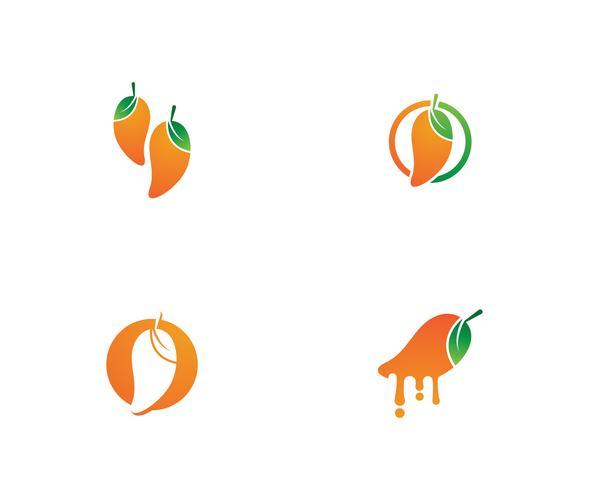 Mango fruits vector logo simbolo