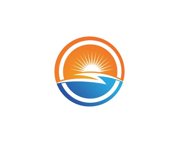 Sun Vector illustration Ikon Logo och symboler Mall design