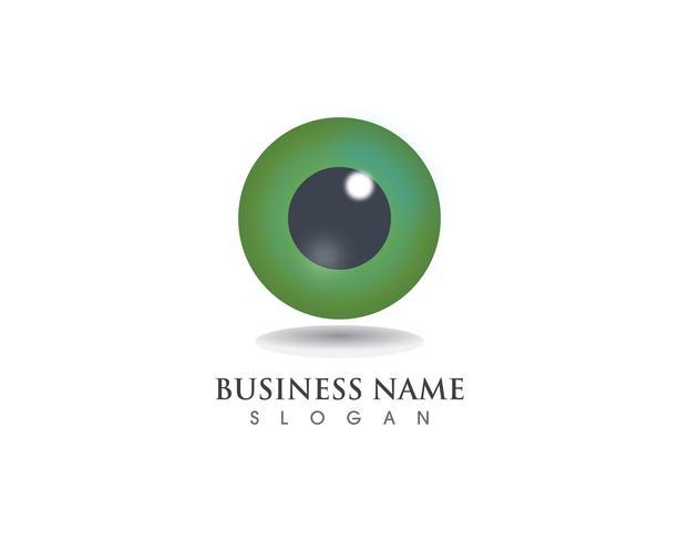 Eye care logo health symbols