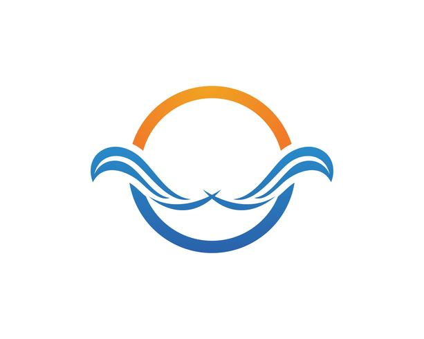 Plantilla de símbolos y logotipo de empresa de letras W