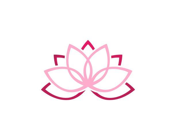 Lotus bloem logo en symbolen vector sjabloonpictogram