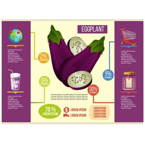aubergine infografisk vektor