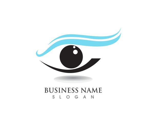 Ojos cuidado salud logotipo y símbolos.