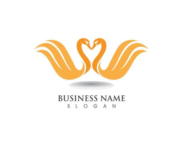 Swan logo Mall vektor