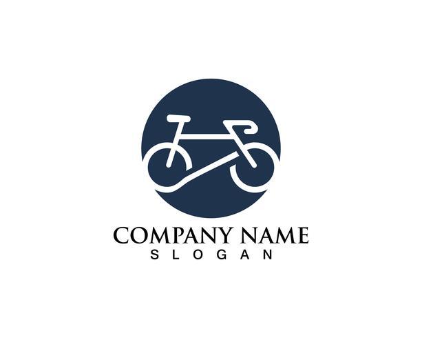 Fahrradlogo und Symbolvektor