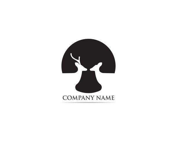 Vetor de logotipo e símbolo de veado