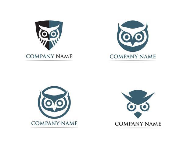 búho logotipo pájaro vector ilustrador