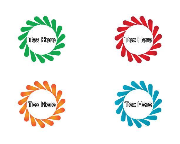vortex logo en symbolen sjabloon