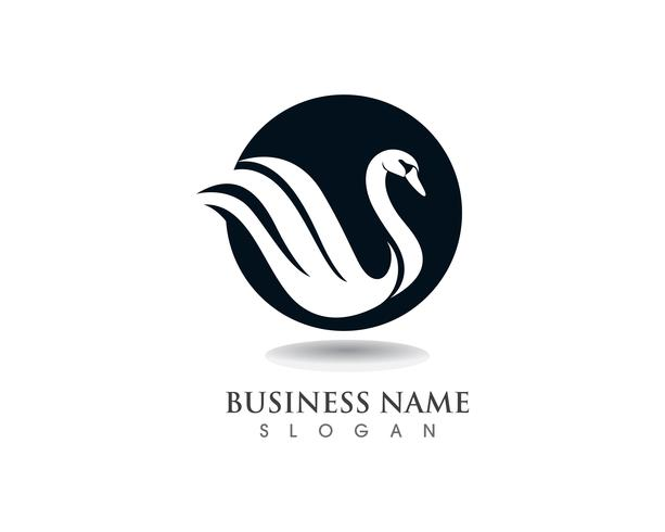 Swan logo sjabloon vector