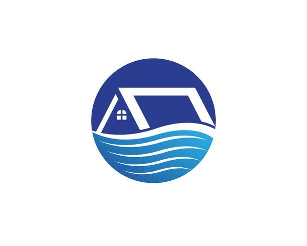 modello delle icone di simboli di logo delle costruzioni domestiche